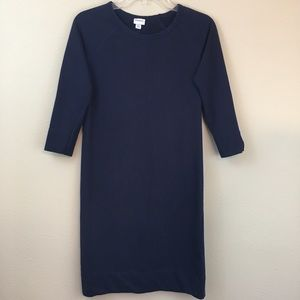 Merona Navy 3/4 Sleeve Dress